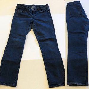 LOFT curvy straight blue jeans